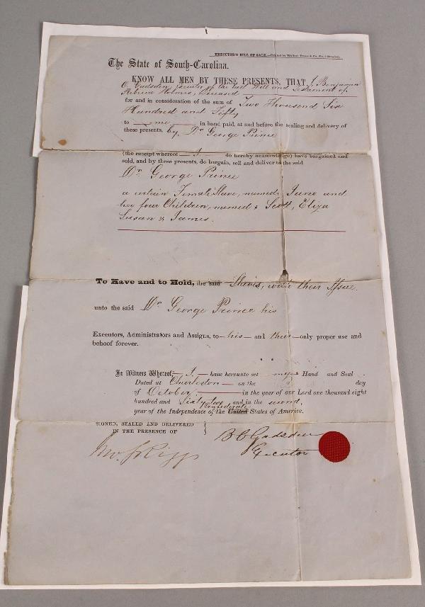 4: 1862 Confederate South Carolina Slave Document