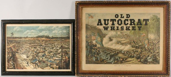 8: Lot of 2 Civil War Related Lithographs