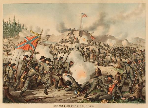 9: Kurz & Allison Civil War Battle Scene (Fort Sanders)