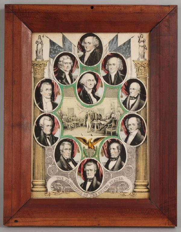 10: Presidential Lithograph, Washington to Polk