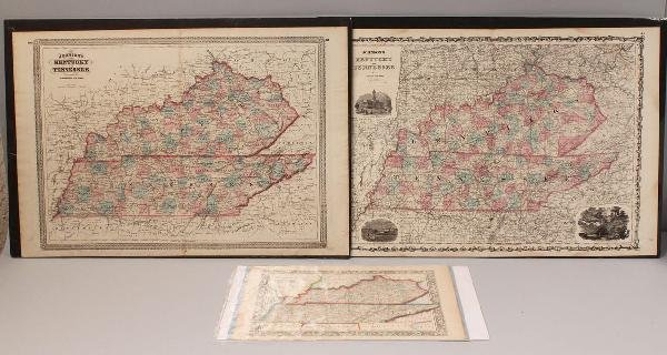 13: Lot of 3 Maps, TN and KY