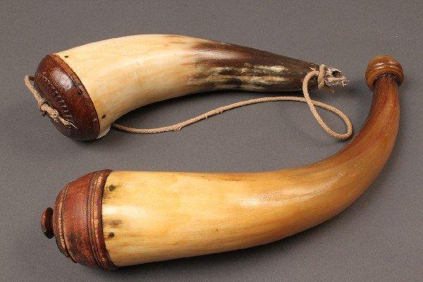 14: Two 19th c. Powder Horns