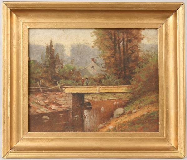 23: Thomas Campbell, Tennessee landscape with bridge
