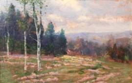 33 Tennessee Spring Landscape early 20th c oil on bo