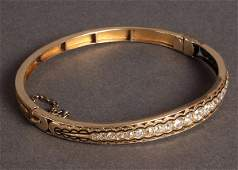 99: Ladies Art Deco Gold and Diamond Bracelet