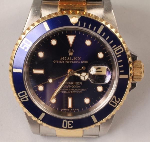 110: Men's Rolex Oyster Submariner Watch