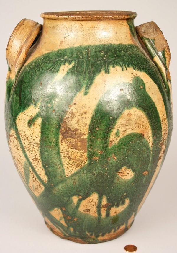 231: East Tennessee Redware Jar, C.A. Haun