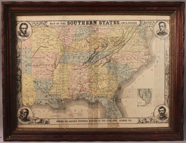 1: Harper's Southern States Civil War Map