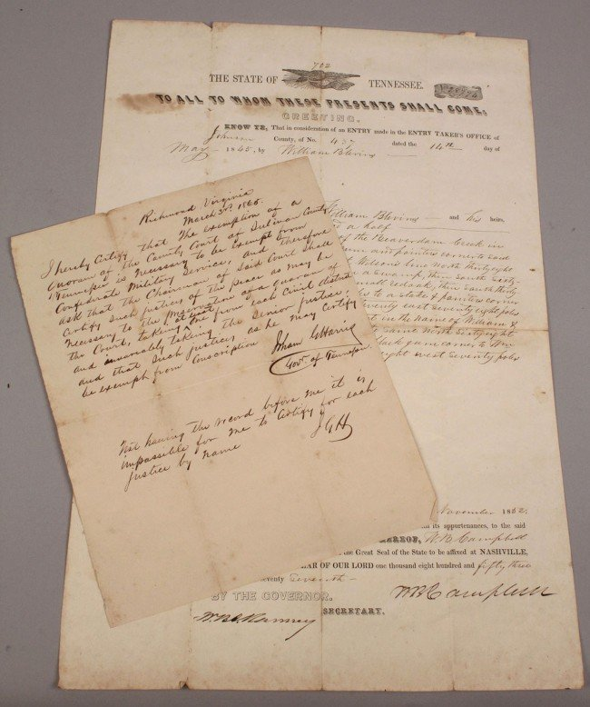 3: Lot of 2 TN documents, Gov. Harris & Campbell