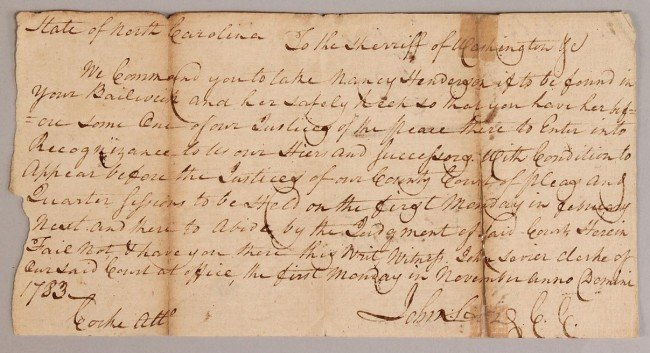 4: Tennessee Governor John Sevier signed letter