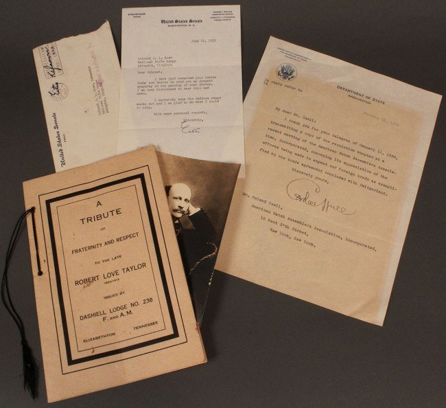 5: Lot of 3 Tennessee political documents