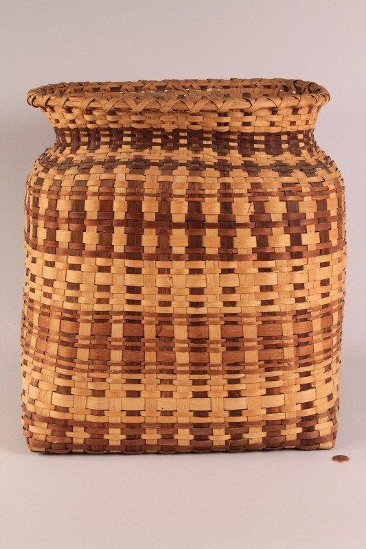 "12: Large Cherokee Waste Basket, 16"" Height"