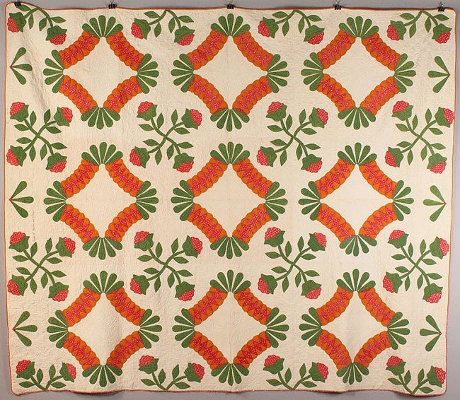 20: American quilt, signed & dated 1852, TN history