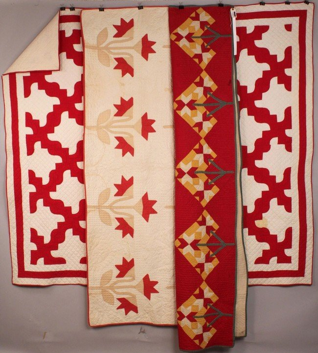21: Lot of 3 Southern Pieced & Applique Quilts