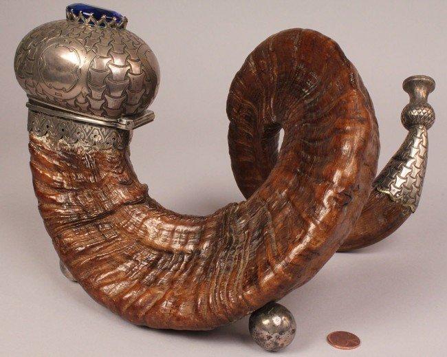 70: 19th c. Scottish Ram's Horn Snuff Mull - 2