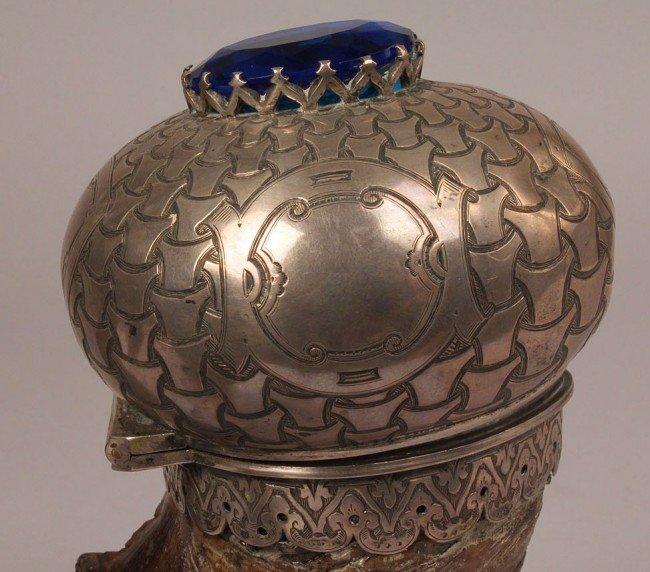 70: 19th c. Scottish Ram's Horn Snuff Mull - 3