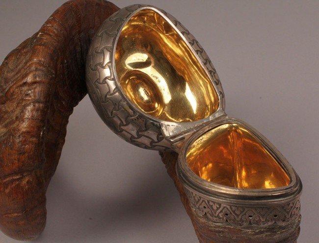 70: 19th c. Scottish Ram's Horn Snuff Mull - 5