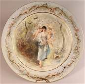 131: Large Decorated Sevres Porcelain Charger