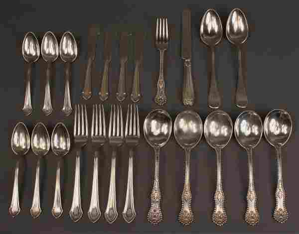 Lot of 23 pieces assd. sterling flatware