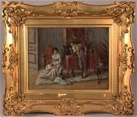 337 Jeno Kemendy oil on canvas Genre Scene
