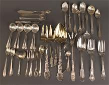 406 Lot of 37 pieces assorted sterling flatware