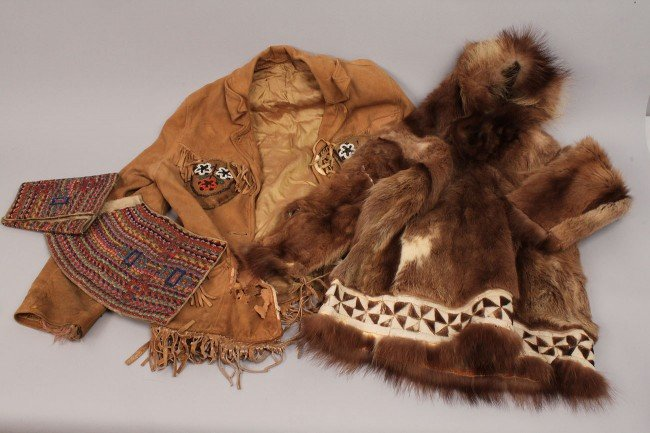 569: Lot of Inuit and Plains Indian Clothing