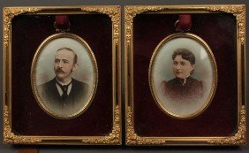 Pair Of Tennessee Fort Family Portraits By Calvert