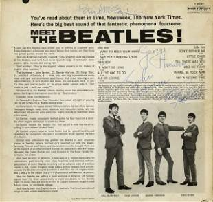"""281: """"Meet the Beatles!"""" album, signed by all 4 members"""