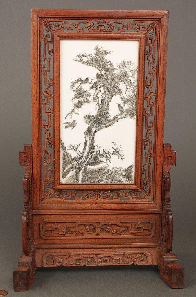 20: Chinese Republic Porcelain Scholar's Screen