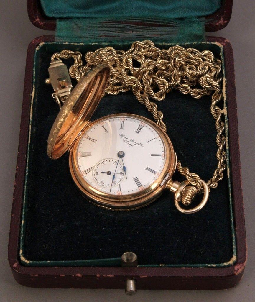 176: 14K Elgin lady's pendant watch w/ 14K gold chain
