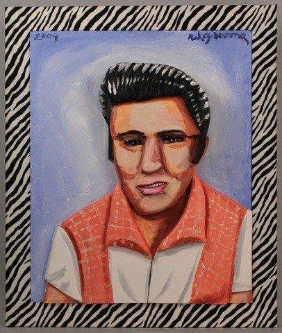 189: Red Grooms oil painting, Elvis