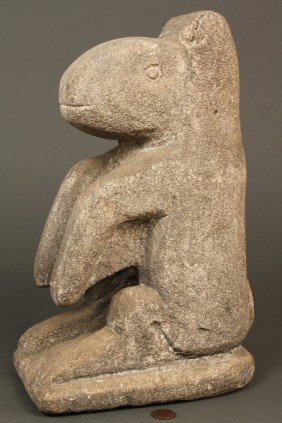 "190: William Edmondson Limestone ""Varmint"" Sculpture"