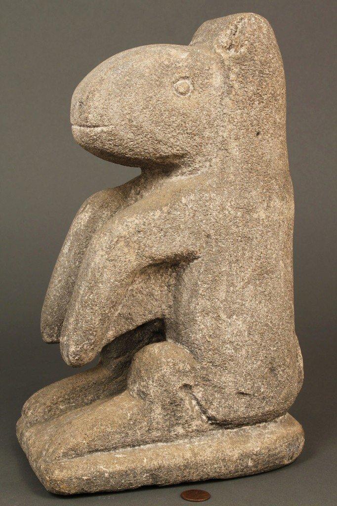 "190: William Edmondson Limestone ""Varmint"" Sculpture"