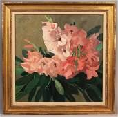 192: Jane Peterson oil on canvas, Gladiolus