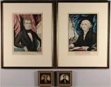 312 4 Presidential prints Washington Johnson Polk