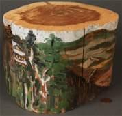 315: Red Grooms Painted Log