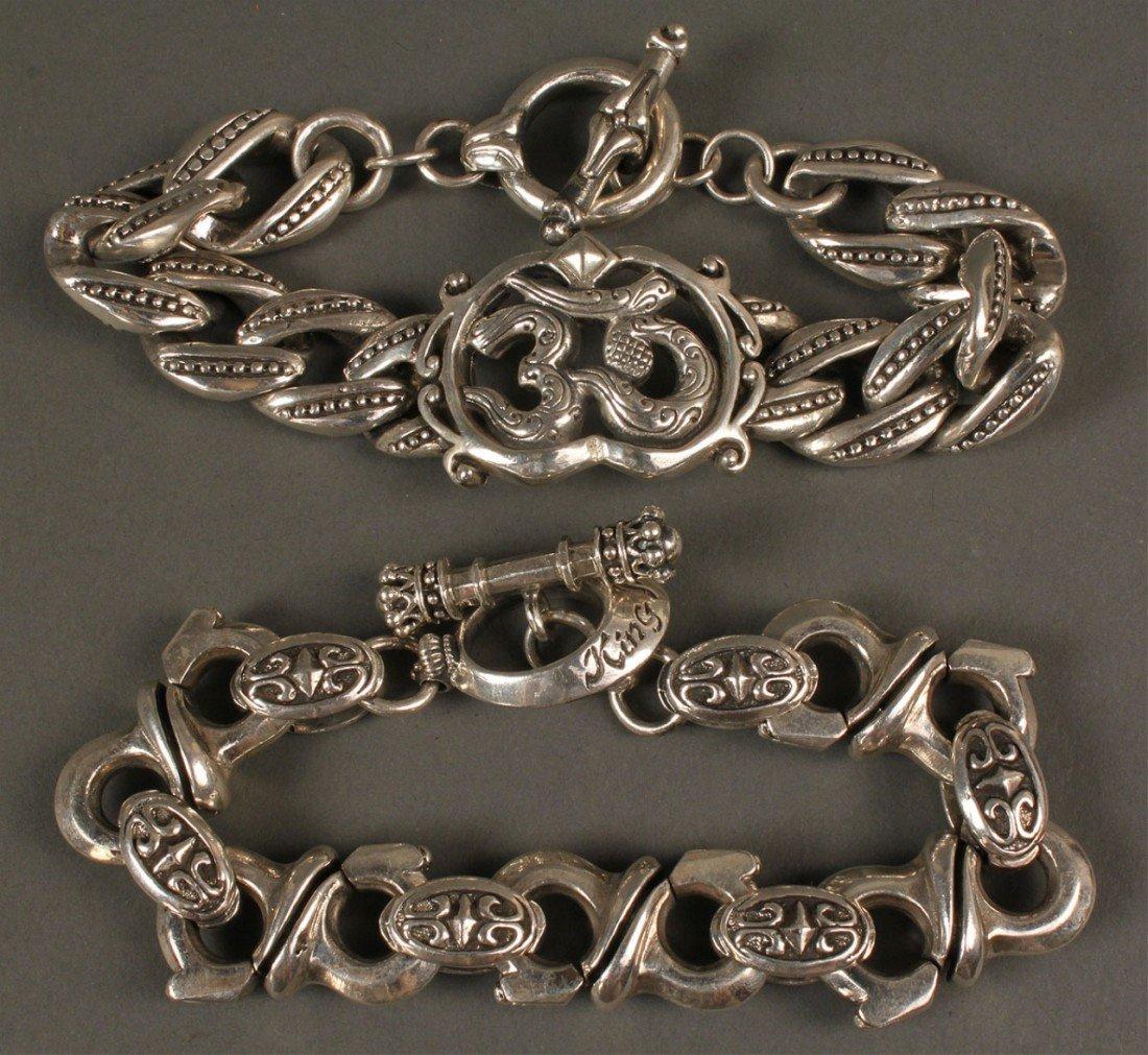 393: 2 Men's Bracelets: King Baby & Royal Underground