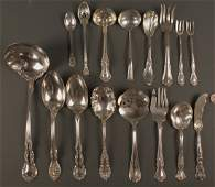 536 15 pcs assorted sterling flatware w2 silverplated