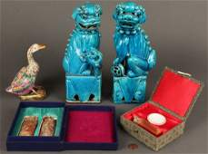 613: Group of Chinese Ceramic and Stone Seal Items