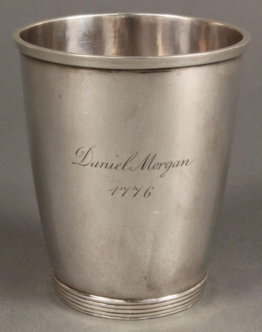 48: Virginia Coin Silver Beaker, Daniel Morgan Inscrip