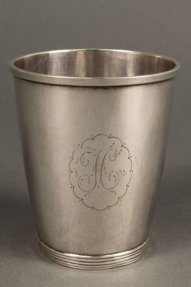 48: Virginia Coin Silver Beaker, Daniel Morgan Inscrip - 2