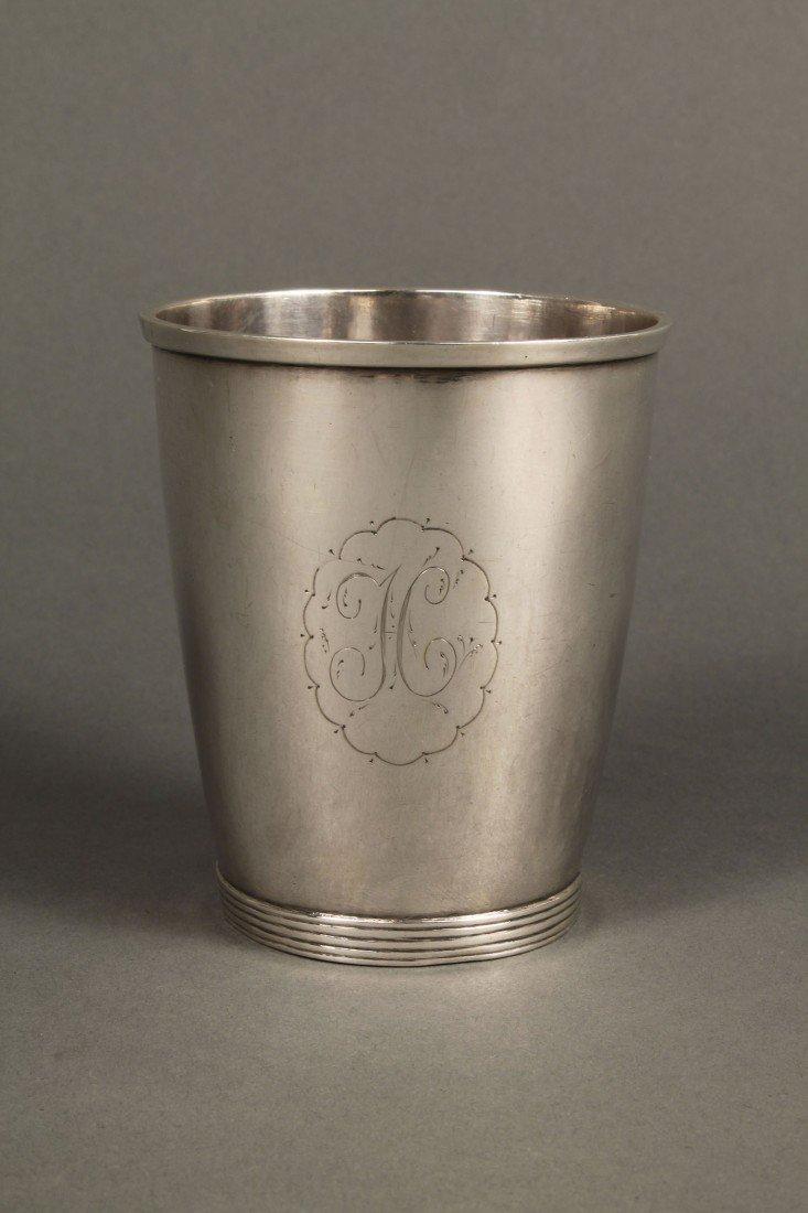 48: Virginia Coin Silver Beaker, Daniel Morgan Inscrip - 3