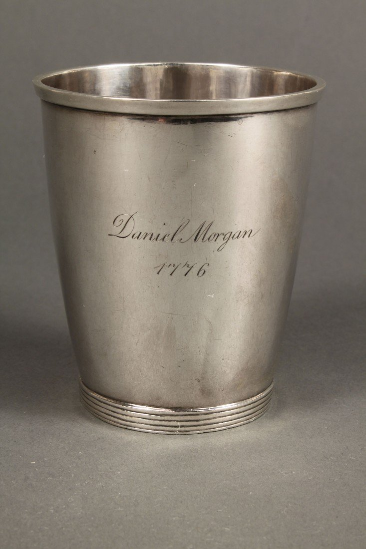 48: Virginia Coin Silver Beaker, Daniel Morgan Inscrip - 4