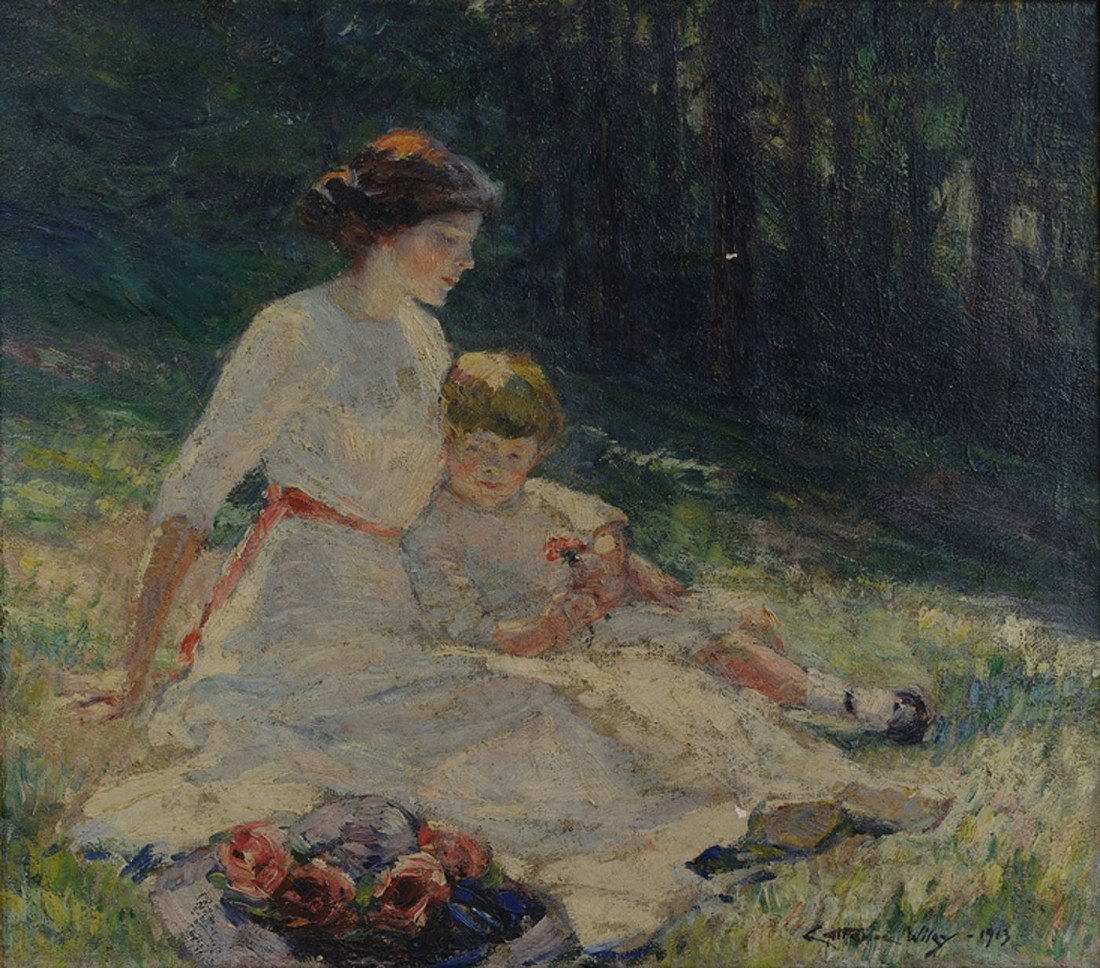 179: Impressionist Oil on Canvas,  Anna Catherine Wiley