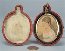 405 Miniature Portrait on paper