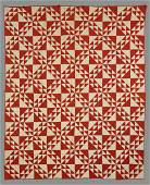 644 East TN Red  White Pieced Cotton Quilt