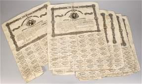 661 6 Confederate Bonds 500 and 100