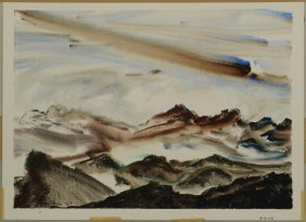 Richard Clarke Watercolor, Polkton Mountain