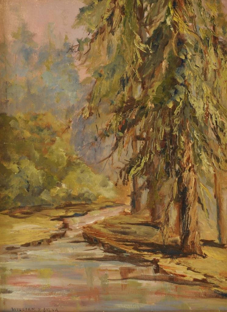 William Posey Silva, Southern landscape, pine tree