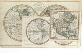 3 18th C maps incl R Vaugondy and J Bayly